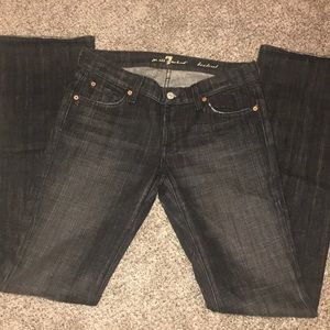 7 For All Mankind Black/Gray bootcut Jean 28